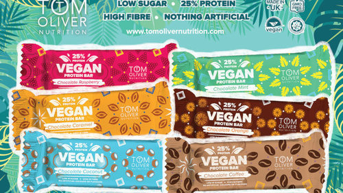 Tom Oliver Nutrition Vegan Protein Bar - 55 g